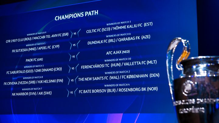 UCL Draw result