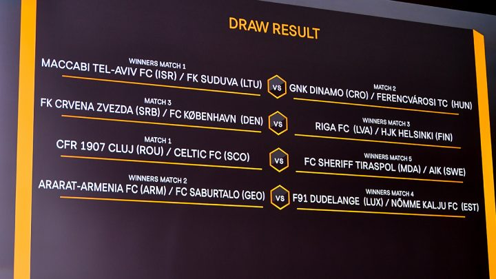 UEFA Europa League Draw Results